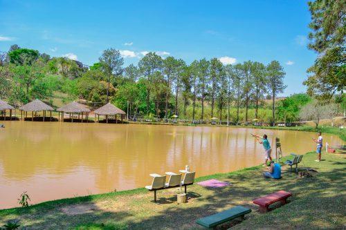Lago com pesca esportiva - Hotel Fazenda Floresta do Lago